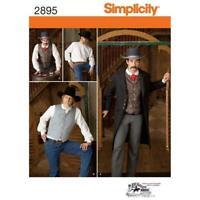 Simplicity Pattern 2895 Men's Vest ,Frock Coat  & Shirt Western Vintage Style