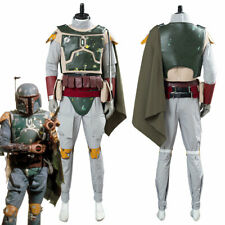 Star Wars Boba Fett Cosplay Costume Uniform Halloween Outfit Uniform Cape
