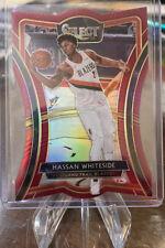 2019-20 Panini Select NBA Hassan Whiteside Premier Level Red Die Cut 73/175