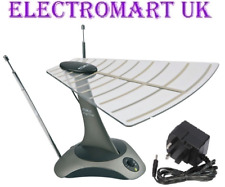 SET TOP PORTABLE AMPLIFIED DIGITAL TV FREEVIEW DAB BOOSTER AERIAL