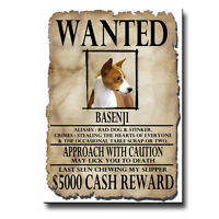 BASENJI Wanted Poster FRIDGE MAGNET No 1 New DOG Funny