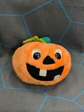 Vintage Dakin Halloween Pumpkin Jack O Lantern Plush Toy Decoration