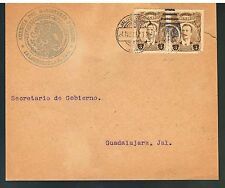 s1163 MEXICO Official Front Cover 1917 Sc 611 Cancel & Seal Jalostotitlan Jalisc