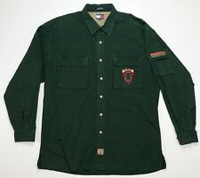 Rare VTG TOMMY HILFIGER Ranger Outdoors Expedition Patrol Tree Patch Shirt 90s L