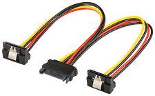 Internes PC Y-Stromadapterkabel S-ATA Kupplung > 2 x S-ATA Stecker 90°