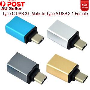 3.1 Type C USB Aluminium Male to USB 3.0 A Female Converter USB-C Cable Adapter