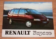Renault Espace 1  Betriebsanleitung Bedienungsanleitung 1991