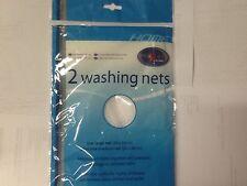 2 X LINGERIE MESH WASHING NETS NET WASHING MACHINE BAGS