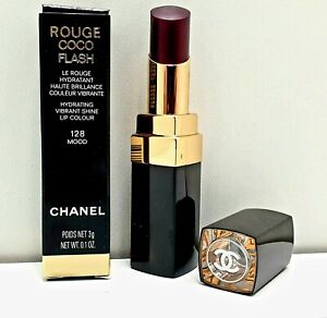 Chanel Bronze Lipstick Top Coat Rouge Coco Flash Intensifying 128 MOOD      New