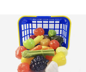 Casdon Shopping Basket With Toy Fruit And Veg Pretend Food Playset Toy BRAND NEW