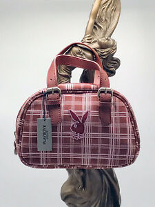 Women's Playboy Mini Plaid Burgundy Fashion Handbag
