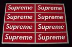 supreme box logo red sticker vinyl decal pack lot set of 8 skateboard laptop car