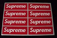 supreme box logo red sticker vinyl decal pack lot set of 8 skateboard laptop car