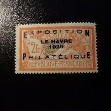 FRANCE LE HAVRE N°257A SIGNÉ BRUN NEUF * AVEC GOMME D'ORIGINE COTE 875€