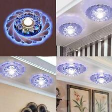 New Modern Crystal LED Ceiling Fixture Blue Light Home Lamp Lighting Chandelier