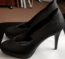 Women's Black Shoes Fioni with Glitter Size 7.5