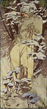 "FOUR SEASONS Alhonse Mucha Wall Tapestry Winter 29""x65"""