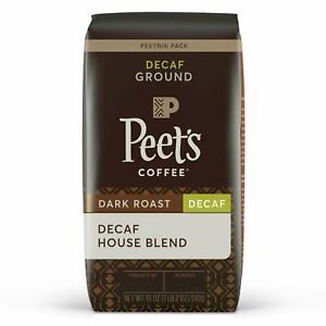 Peet's Coffee Decaf House Blend, Dark Roast, Ground Coffee, 18 Oz