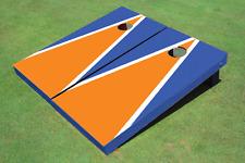 Orange And Blue Matching Triangle Custom Cornhole Board - Aat-2391