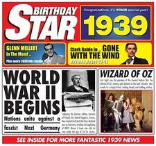 79th  BIRTHDAY GIFT - Britpop CD & 1939 Birthday Star Sony CD Year Greeting Card