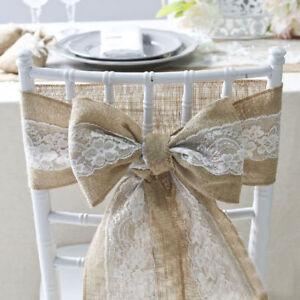 Stuhlschleifen aus Jute Schleifen Natur band Juteband Hochzeit