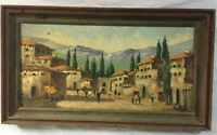 J.CABANE SPANISH PAINTER, EARLY CENTURY OIL ON CANVAS...VERY RARE