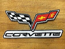 New CHEVROLET CORVETTE Embroidered Patch Iron on, sew RACING Sports MOTOR Auto