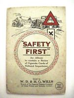 """Vintage Cigarette Trade Cards Album """"Safety First"""" Issued by W.D. & H.O. Wills *"""