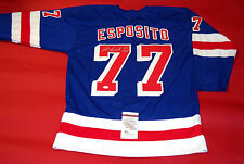 PHIL ESPOSITO AUTOGRAPHED NEW YORK RANGERS JERSEY JSA HOF 1984 COLOR BLEED READ