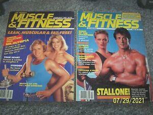 1985 Muscle & Fitness .. Joe Weider muscle builder lot, Stallone, John Schneider