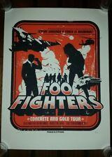 #/100 FOO FIGHTERS 2017 Nashville Show Poster Tour Print Bridgestone Lithograph