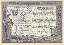 Turquia, SA Ottomane des Mines de Balia - Karaidin, accion, Constantinople, 1920