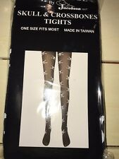 Pirate Tights Skull and Crossbones Nylons Stockings Womens Teens One Size