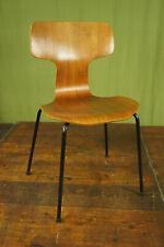Vintage Teak Stuhl Arne Jacobsen 3103 Hammer Chair Stapelstuhl Fritz Hansen 12