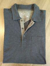 Eddie Bauer Mens Grey Golf Polo Shirt Top Size Tl