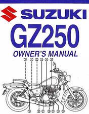 suzuki gz250 manual ebay rh ebay ca Suzuki GZ250 Bobber suzuki gz250 service manual free download