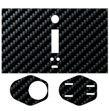 Skin Wrap for WISMEC Reuleaux RX200 RX TC MOD Decal Vape Sticker - BLACK CARBON