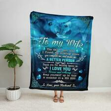 Lion to my wife thank you for walking beside me love you forever fleece blanket