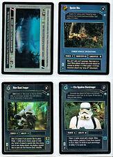 STAR WARS CCG ENDOR SET OF 4 DARK SIDE COMMON FOIL CARDS