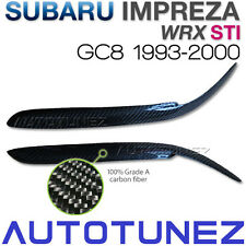 Carbon Fiber Car Eyelid Eyebrow For Subaru Impreza WRX STI GC8 EJ20 1993-2000 TU