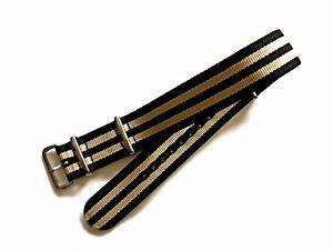 NATO G10 ® 5 Stripe Prem nylon watchband Sport strap Military RAF bond IW SUISSE