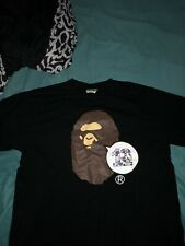 Bathing Ape Monkey Head Tee (Partly Bleached On Accident) 100% Authentic