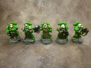 Warhammer 40k Space Marines Salamanders Sternguard Veteran Squad Well Painted