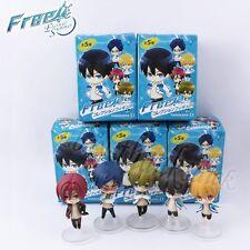 Cute ! 5pcs  JP Anime Free! Iwatobi Swim Club 6cm PVC Figure Toy Set New In Box