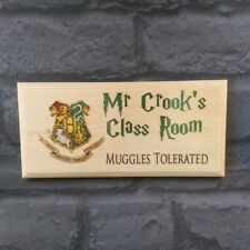 Personalised Harry Potter Teacher Gift / Plaque / Sign- Muggles Classroom School