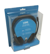 Logitech - H390 USB Headset with Noise-Canceling Microphone - NEW