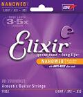 Cordes ELIXIR 12-53 Nanoweb Bronze guitare acoustique (Light)
