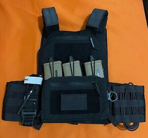 LBX Armatus II Plate Carrier w/ Utility Front Flap - Black - Large Brand NEW!!