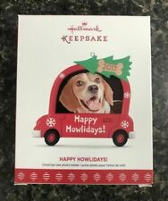 Hallmark 2017 Happy Howlidays Dog Picture Frame Dated Christmas Ornament