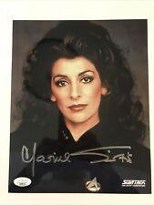 Marina Sirtis Signed 8x10 JSA COA Star Trek